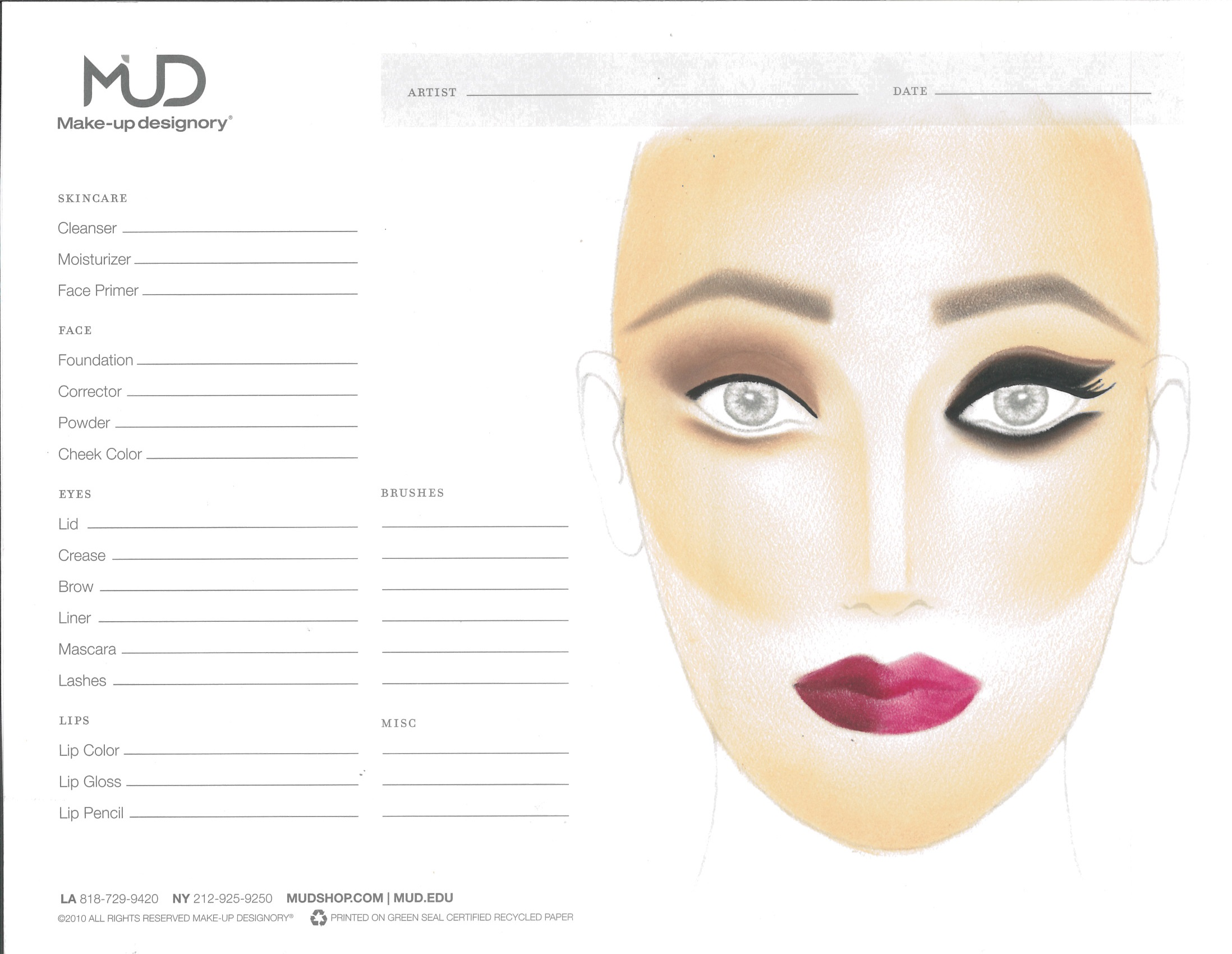 Make up tutorial face chart fall 2014 nvjuhfo Gallery